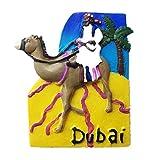 Imán para nevera de resina 3D, diseño de camello de desierto Dubai, ideal como regalo de turista, hecho a mano, creativo para el hogar y la cocina, adhesivo magnético