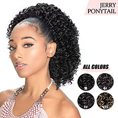 AISI BEAUTY Short Afro Curly Ponytail Hair Piece for African American Black Women Ponytail Extension Afro Drawstring Curly Ponytail for Women