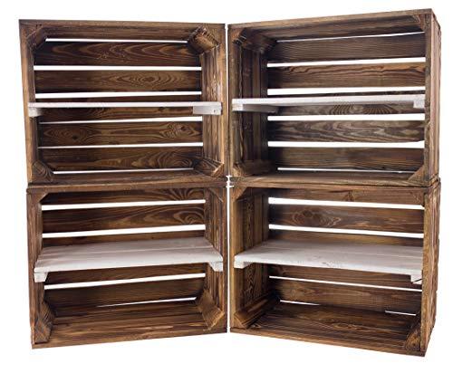 Vintage Möbel 24 GmbH 5 Cajas de Madera flameada con Tabla Central...