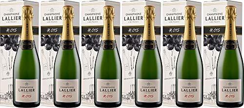 6x R.016 Brut - in Geschenkkartonage - 2015 - Champagne Lallier, Champagne - Weißwein