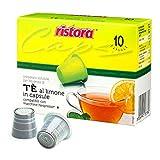 50 Cápsulas Ristora de té de limón, compatibles con cafeteras Nespresso.