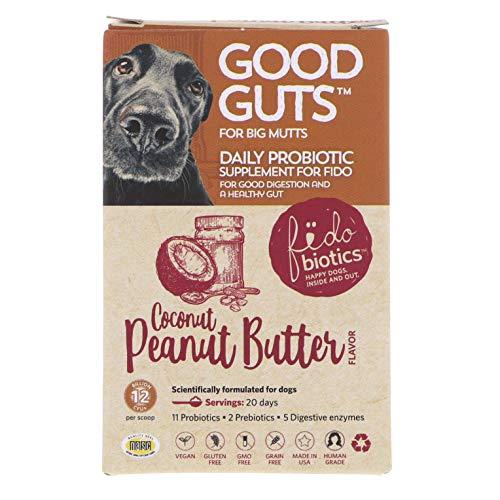 Fidobiotics Good Guts  Daily Probiotic  for Big Mutts  Coconut Peanut Butter  12 Billion CFUs  1.4 oz (40 g)