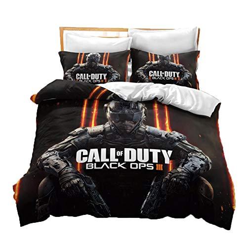 UNILIFE Funda de Edredón de 3 Piezas Funda Nórdica Call of Duty...