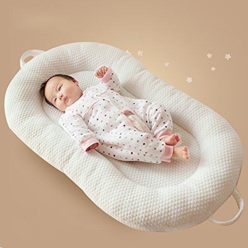 LJHA Lit de bébé Lit Pliant Portable Nouveau-né lit bébé 2 Couleurs Disponibles 58 * 98cm Oreillers d'allaitement ( Color : A )