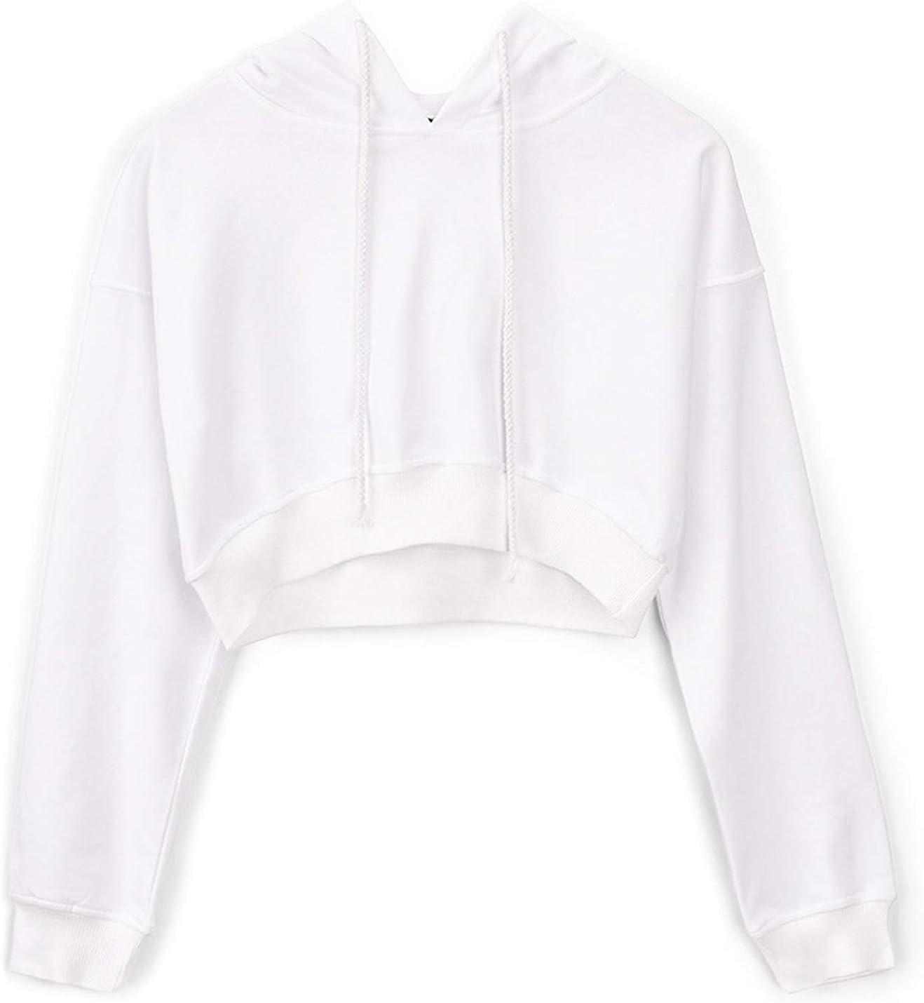 PEHMEA Women's Casual Long Sleeve Sweatshirt Drawstring Hoodie Workout Pullovers