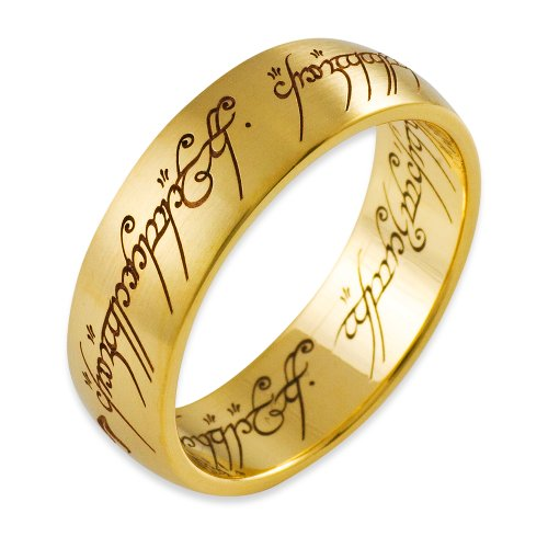 Herr der Ringe Schmuck by Schumann Design Der eine Ring Gelbgold 585 Rg 66 4001-066