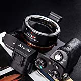 Viltrox EF-NEX IV AF Auto Focus CDAF/PDAF - Adaptador de Montura de Objetivo con Control de Apertura, transmisor para Canon EF/EF-S, Lente Sony A9 A7RIII A7RII A7III A7II A6300 A6500 E-Mount DSLR