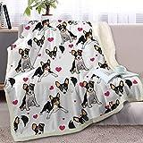 BlessLiving Rat Terrier Fleece Blanket Rescue Dog Sherpa Throw Blanket Kids Teens Plush Blanket Lovely Home Decor (Throw, 50 x 60 Inches)