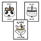 3er-Set DINA4 Poster für Kinderzimmer und den Bilderrahmen