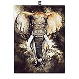 YWOHP Lobo León águila Elefante Pared Arte Lienzo Pintura Carteles nórdicos e Impresiones Sala de Estar hogar Pared pintura-40x60cm_No_Framed_5