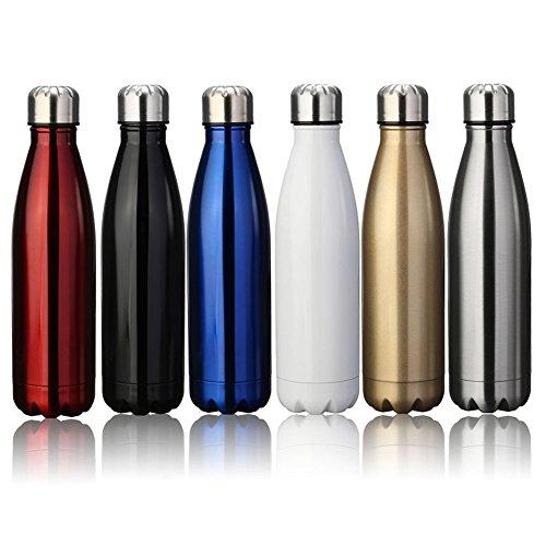 Zhaoyun 500ml&750ml Doppelwandige Vakuum-isolierte Wasserflasche Edelstahl-Trinkflasche, um Ihre Getränke heiß und kalt zu halten Ideal für Outdoor-Sport Camping Wandern Radfahren Mountainbike.