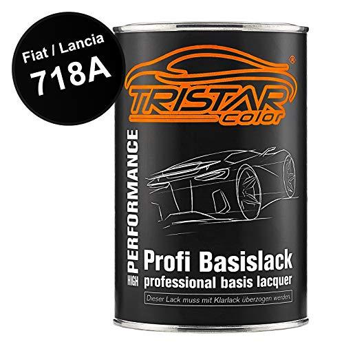 TRISTARcolor Autolack Dose spritzfertig für FIAT/Lancia 718A Nuovo Nero Metallic Basislack 1,0 Liter 1000ml