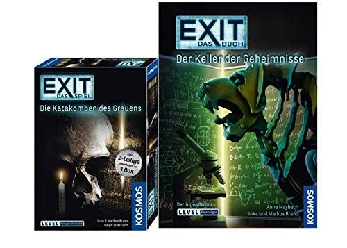 EXIT Kosmos 694289 Spiel - Die Katakomben des Grauens - das 2-teilige Abenteuer in 1 Box, Level: Fortgeschrittene, Escape Room Spiel Buch - Der Keller der Geheimnisse Taschenbuch