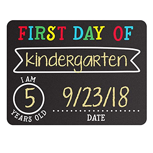 Pearhead First and Last Day of School Photo Sharing Chalkboard Signs; The Perfect Back to School Chalkboard Sign to Commemorate The Last Day of School