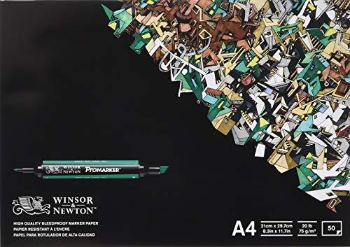 Winsor & Newton - Blocco Di 50 Fogli Di Carta A4 Per Pennarelli