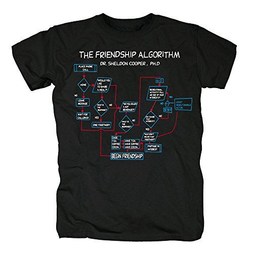 TSP The Friendship Algorithm T-Shirt Herren XXL Schwarz