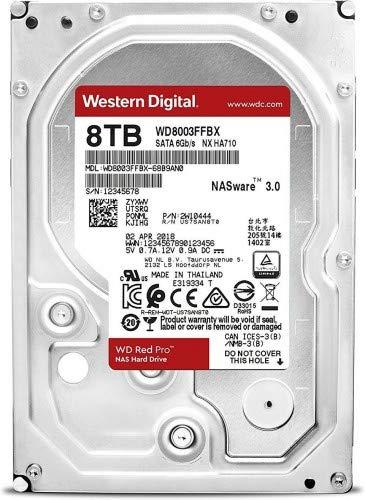 Western Digital 8TB RED PRO SATA NAS Hard DRIV, WD8003FFBX