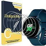 UniqueMe [6 Stück] Schutzfolie für Samsung Galaxy Watch Active/Samsung Galaxy Watch Active 2 40mm Bildschirmschutz, Blasenfrei, TPU flexibel [Blasenfreie] Bildschirmschutzfolie