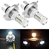 QKPARTS 2PCS 80W LED Super White Headlights Bulbs Lamps For 2007-2015 Yamaha...