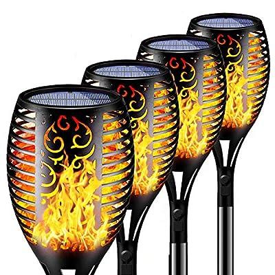 Solar Flame Lights Outdoor Flashlight Safety Wa...
