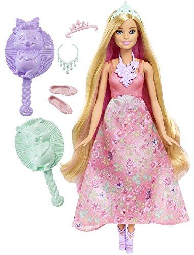 Barbie Mattel DWH42 - Dreamtopia Farbfrisuren Prinzessin Puppe, blond