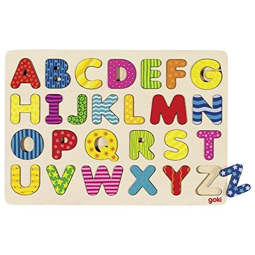 GOKI maderaPuzzles de maderaGOKIAbecedario Puzzle, Multicolor (1)