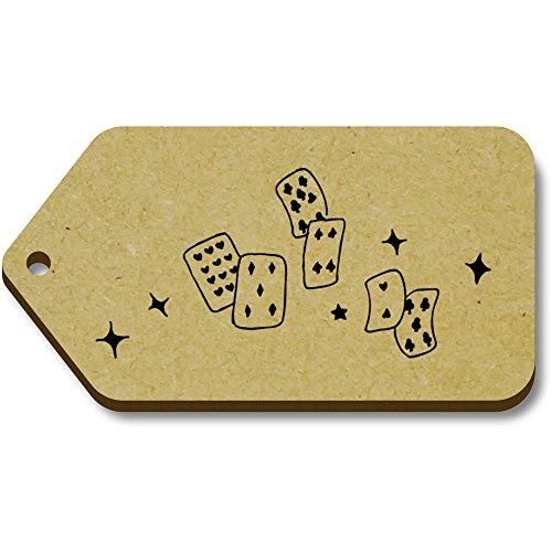 Azeeda 10 x 'Kartenspielen' 66mm x 34mm Hölzerne Tags (TG00005968)