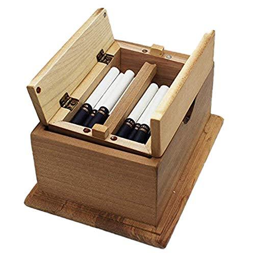 Caja de cigarrillo automática Palillos de cigarrillo pop-up caja de cigarrillo de mesa de madera caja de regalo de cigarrillo personalizado regalo