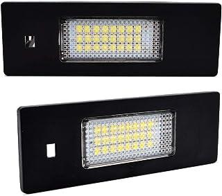 LncBoc BMW LED ライセンスランプ 12V 3W 高輝度 ホワイト ユニット 2個セット直接交換E39/E46/E60/E61/E70/E71/E72/E82/E84/E88/E90-93/F10-11/F15/F25/F30-32/F34,1年保証