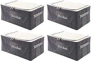 MU Les grandes boîtes de rangement avec couvercle, fort empilable Conteneur, Clothes Organizer avec Windows Transparent, P...