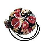 Sunnyushine Strumento Artigianale Fai-da-Te A Forma di Fiore con Cintura da Polso Elastica, Cuscino A Spillo, per Cucire A Punto Croce Raccogliere Aghi in Modo Stabile