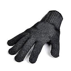 Remylady® 1 Stück Profi-Handschuh für Grill & Ofen Grillhandschuhe Ofenhandschuhe Hitzeschutzhandschuh Kochhandschuh Schwarz