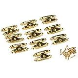 10Pcs 26*15mm Oro Vintage Mini cerrojos cerrojos de regalo para la caja de regalo de joyería decoración de madera de la caja