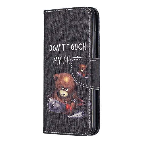vingarshern Hülle für Huawei Honor 5C Handytasche Klappbares Magnetverschluss Flip Standfunktion Lederhülle Schutzhülle Honor 5C Hülle Leder Etui Brieftasche/MEHRWEG(Wütender Bär)