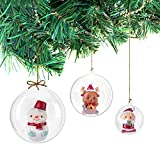 Bolas de Navidad de plástico transparentes, rellenables, para decoración de árboles (8 cm, 20 unidades)