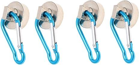 TOPBATHY 4 Stks Magnetische Haken Dikken 22kg Heavy Duty Duurzaam Magneet Snap Haak Magneet Hanger Opknoping Haak voor Kli...