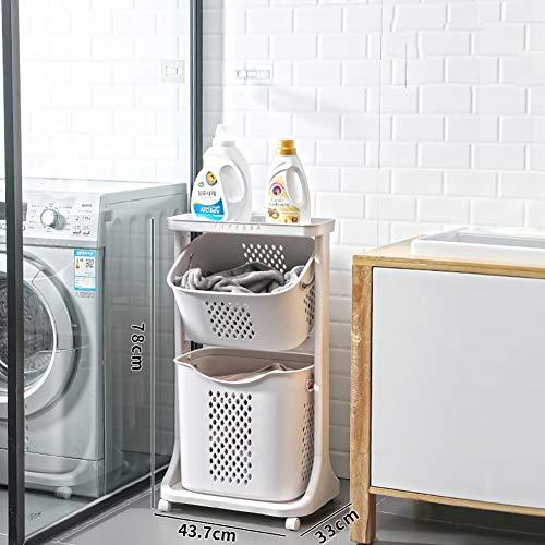 HSGei Wäschekorb mit Griff Leinen Wäschekorb Einbau-Liner mit abnehmbarem und Nützliches Upgraded Folding Wäschekorb Spielzeug-Speicher-Grid-Muster,B