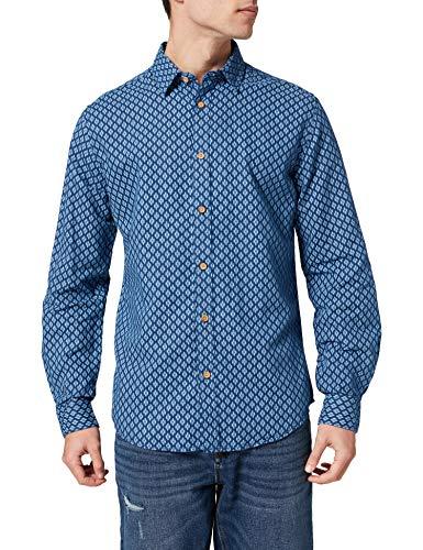 Springfield Camisa, Estampado Azul, XL para Hombre