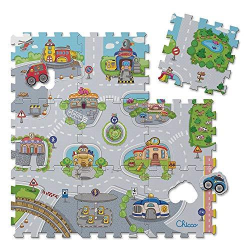 Chicco - Tapis Puzzle City - Tapis d'éveil