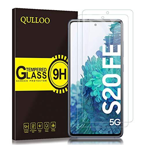 QULLOO Panzerglas für Samsung Galaxy S20 FE / S20 FE 5G, Anti- Kratzer Schutzfolie HD Displayschutzfolie 9H Hartglas Panzerglasfolie Handy Glas Folie für Samsung Galaxy S20 FE / S20 FE 5G - [2 Stück]