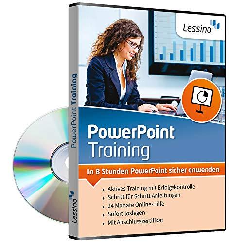 PowerPoint Training - In 8 Stunden PowerPoint sicher anwenden | Einsteiger und Auffrischer lernen mit diesem Kurs Schritt für Schritt die sichere Anwendung von PowerPoint 2010, 2013, 2016 und 2019[1 Nutzer-Lizenz]