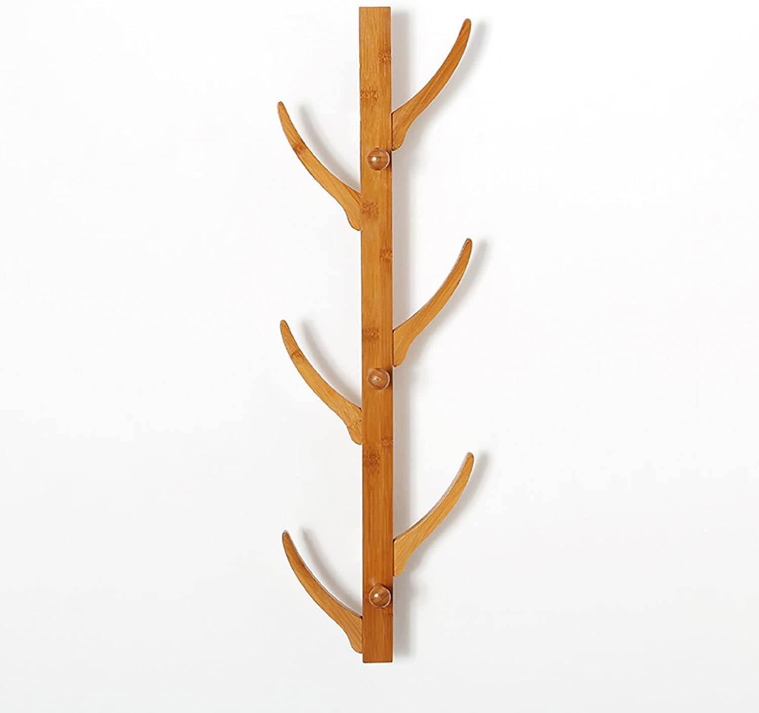 ZZHF yimaojia Creative Solid Wood Wall-Mounted Coat Rack Bedroom Living Room Hangers Simple Shelves (Size   A)