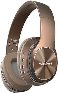 Bluetooth Headphones Over Ear HD Sound Wireless Headset Foldable Headphones Built-In Mic Handsfree Headphone Soft Memory-Protein Earmuffs,Brown