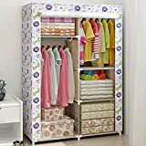 MMM& Simple Wardrobe Steel Pipe Cloth Closet Trumpet Students Single Wardrobes Assembly Reinforcement