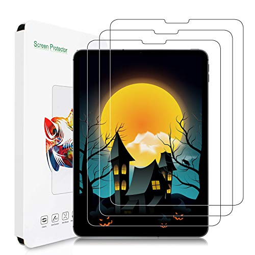 3-Pack Screen Protector for iPad Air 4 (2020) 10.9 inch/iPad Pro 11'' 2020/2018, [Tempered Glass] [HD Clear] [ Bubble-Free ] [ Anti-Scratch ] iPad Air 10.9 Inch/iPad Pro 11 Inch Screen Protector