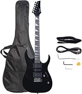 $115 » Electric Guitar with Bag Strap Two Way Adjustable Neck Musical Instrument Kit for Beginners Bass Musicians