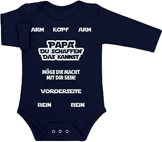 Shirtgeil Papa, DU SCHAFFEN DAS Kannst Möge Die Macht Mit Dir Sein Baby Langarm Body