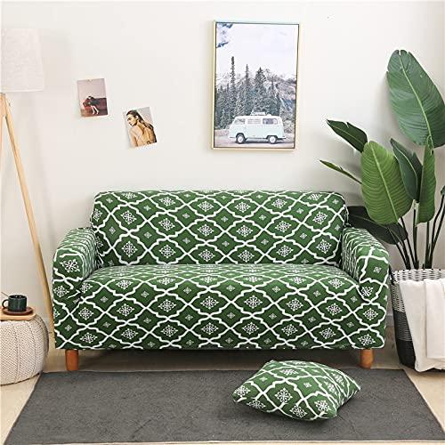 Funda de sofá geométrica Moderna Tight Wrap Todo Incluido Funda de sofá elástica a Rayas Funda Protectora de Muebles Funda Protectora A18 4 plazas