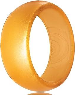 خاتم من السيليكون البسيط لحفلات الزفاف والعلاقة للأزواج من الرجال والنساء