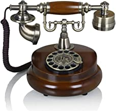 Looking back is the shore Metal Rotary dial Mechanical Ringtone European Ornaments Vintage Telephone Retro Phone